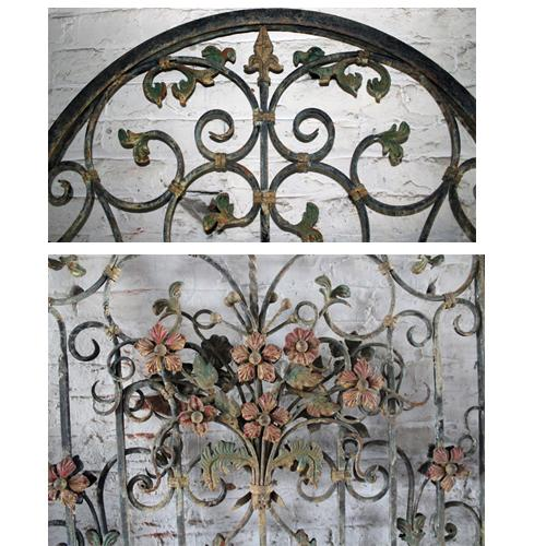 A Set of Four 19th Italian Polychrome and Iron Gates No. 4127