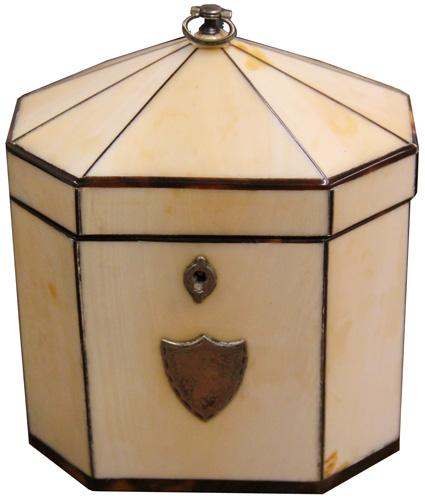 A Late 18th Century Octagonal Bone Tea Caddy No. 4225