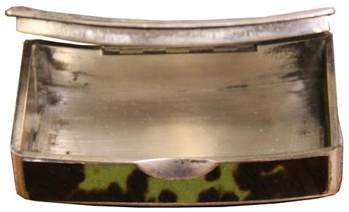 An Early 19th Century English Silver-Mounted Green Tortoiseshell Snuff Box No. 4230
