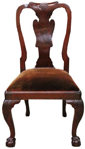 An 18th Century Queen Anne Mahogany Side Chair No. 4303
