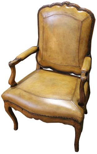 An 18th c. Italian Louis XV Beechwood Armchair No. 4313