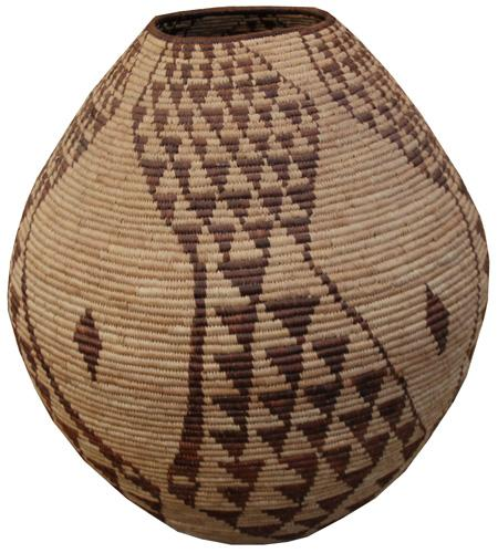A 19th Century Indian Woven Basket No. 4334