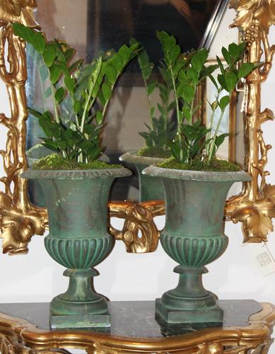 A Pair of Verdegris Urns No. 2728
