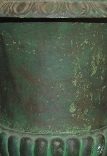 A Pair of Verdegris Urns 2728