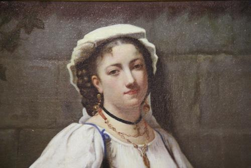 "An 18th Century Italian Oil on Canvas, Entitled ""Misteriosa Fanciulla"" No. 4351"