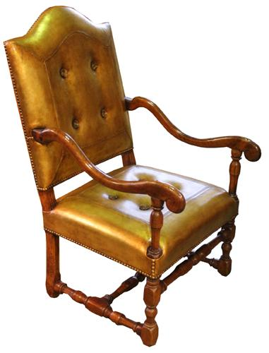 An 18th Century Italian Walnut Fauteuil Armchair No. 4374