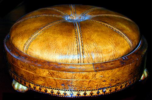 A 19th Century English Walnut Footstool No. 96