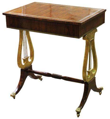 A 19th Century English Rosewood and Parcel Gilt Side Table No. 4403