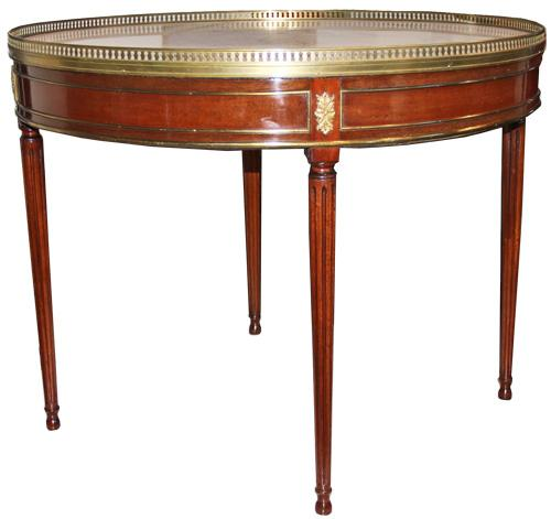 A French Louis XVI Mahogany Bouillotte Table No. 1051