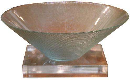 A Strikingly Modern Vintage French Crystal Bowl No. 4380