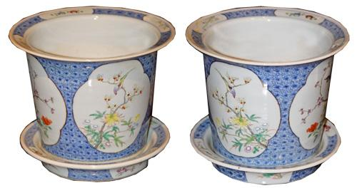 A Pair of 19th Century Chinese Jardineres No. 4386