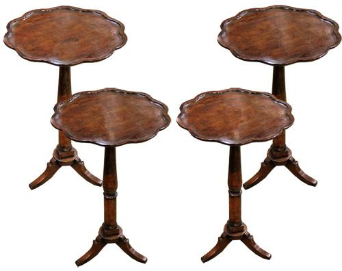 A Set of Four 19th Century Italian Walnut Side Tables No. 4411