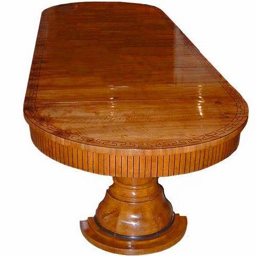 A 19th Century Biedermeier Walnut And Ebony Dining Table No.