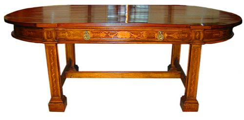 A 19th Century Oval Yew Wood Dining Table No. 1657