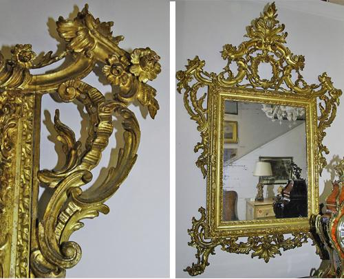 A Regal 18th Century Venetian Rococo Carved Gilt Mirror No. 2547