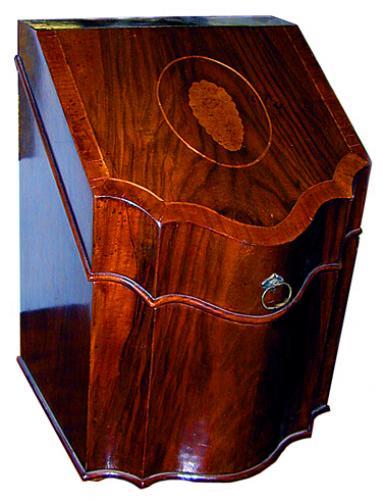 An 18th Century English Sheraton Design George III Walnut Knife Box No. 513