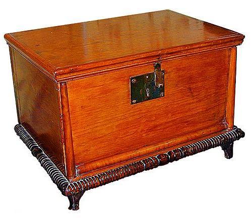 A 19th Century American Cherry Wood Bible Box No. 422
