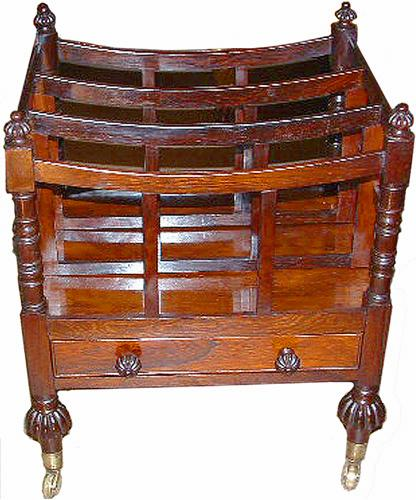 A Graceful 19th Century English Rosewood Canterbury No. 2556