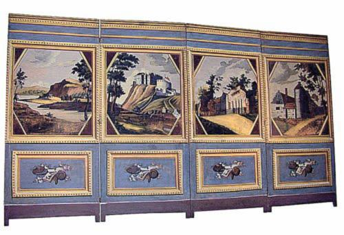 An 18th Century Italian Four Panel Painted Screen No. 118