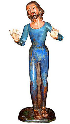An 18th Century Spanish Articulated Polychrome Devotional Figure of Jesus No. 2409