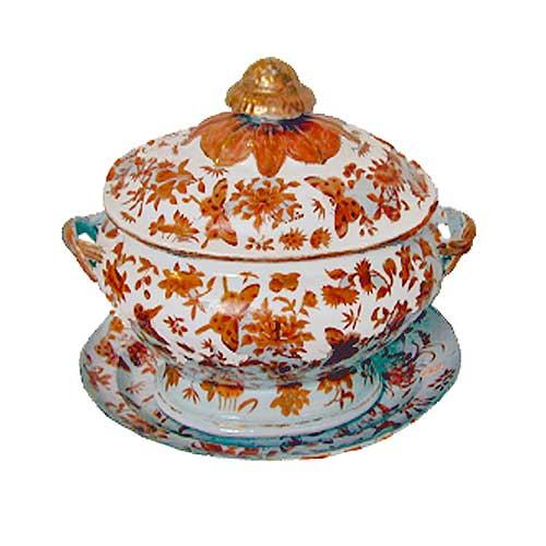 An Early 19th Century Impressive Chinese Export Soup Tureen with Cover and Under Plate No. 2103