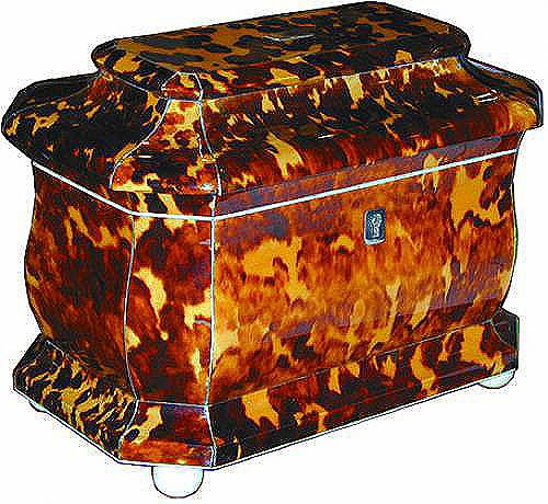 A 19th Century English Tortoiseshell Tea Caddy No. 2058