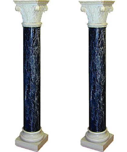 A Fine Pair of 18th Century Italian Tete Negre Marble Columns No. 1805