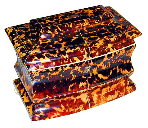 A 19th Century English Regency Tortoiseshell Tea Caddy No. 1616