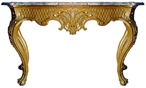 A Magnificent 18th Century Italian Regence Gilt Wood Console No. 2583