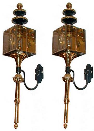 A Pair of 19th Century Venetian Carriage Lamps No. 68