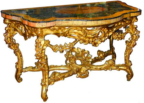 An Exquisite 18th Century Italian Giltwood Console No. 1702
