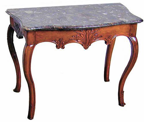 A Fine 18th Century French Régence Walnut and Marble Console No. 1431