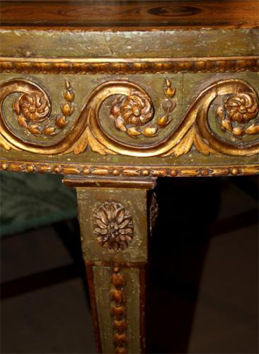 An Exquisite 18th Century Continental Demilune Console No. 365