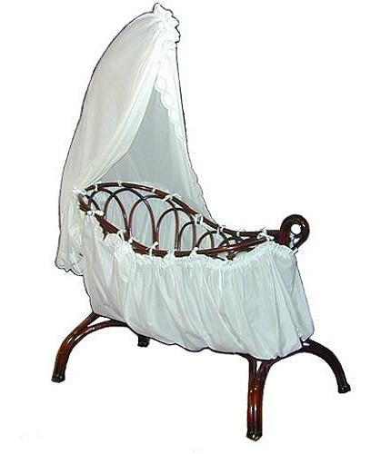 An Adorable 19th Century Beechwood Rocking Cradle No. 2195