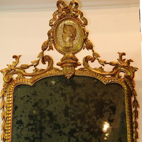 A Transitional and Refined 18th Century Luccan Giltwood Pier Glass Mirror No. 2362