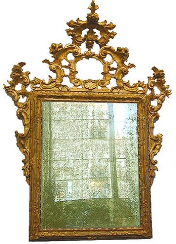A Grand 18th Century Italian Rococo Giltwood Mirror No. 2223