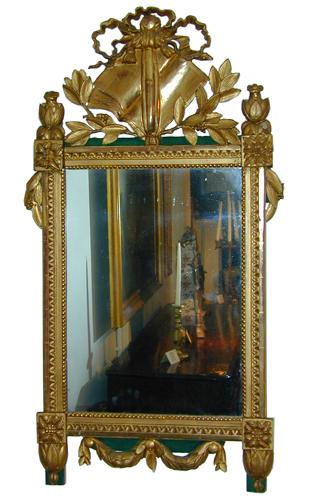 An 18th Century Louis XVI Carved Giltwood Mirror No. 1886