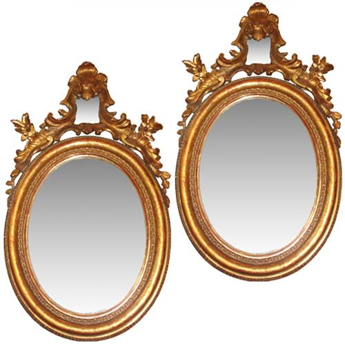 A Pair of 18th Century Italian Giltwood Mirrors No. 1618