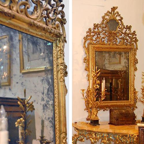 An Exquisite Pair of 18th Century Giltwood Mirrors No. 1468