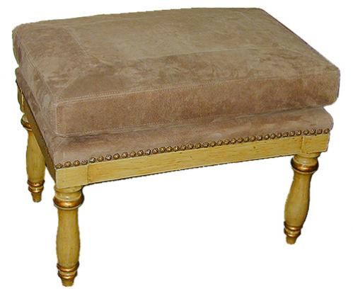 A Handsome 19th Century Polychrome and Parcel Gilt Italian Ottoman No. 2301