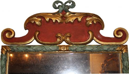 An Exquisite 18th Century Italian Polychrome & Gilt Mirror No. 970