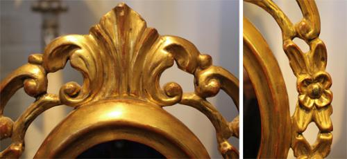 A Diminutive Giltwood Standing Mirror No. 585