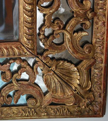 An Exquisite 18th Century French Regence Giltwood Mirror No. 530