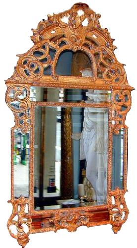 An Exquisite 18th Century French Régence Giltwood Mirror No. 364