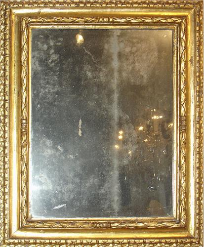 A Beautiful 18th Century Italian Giltwood Framed Mirror No. 317