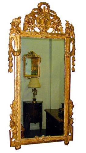An 18th Century French Louis XVI Giltwood Mirror No. 280