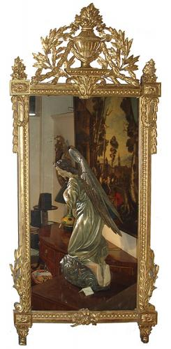 A Fine 18th Century French Louis XVI Giltwood Mirror No. 12