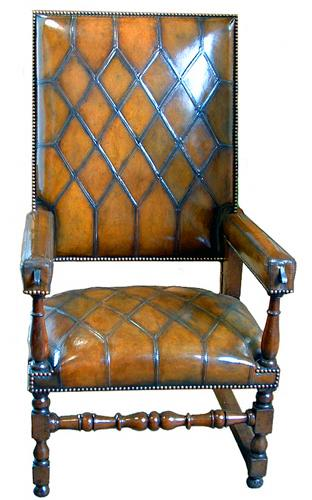 An Impressive 17th Century Italian Walnut Recliner No. 2386