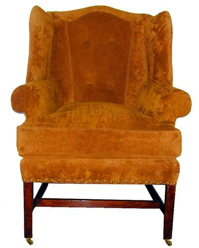 A Handsome 18th Century Mahogany English Wing Chair No. 2217