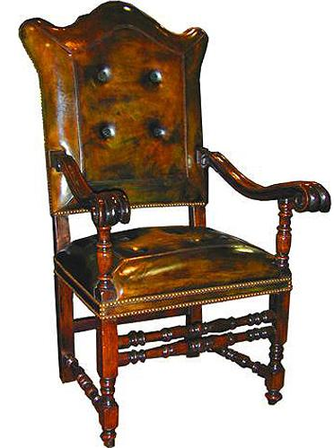An Impressive Pair of 17th Century Italian Baroque Walnut Armchairs No. 2062